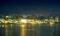 Night view of coastline. Royalty Free Stock Photo