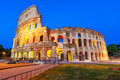 Night view of the Colosseum or Coliseum, the Flavian Amphitheatre, Rome, Italy Royalty Free Stock Photo