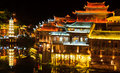 Night View Of Fenghuang, China