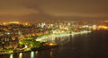 Night view of Flamengo beach and district in Rio d Royalty Free Stock Photos