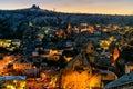 Night view of Goreme town. Cappadocia. Turkey Royalty Free Stock Photo