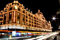 Night view of Harrods Royalty Free Stock Image