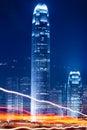 Night view of hong kong Royalty Free Stock Image