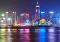 Night view on Hong Kong island Royalty Free Stock Photo