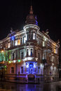 Night view of a house in batumi georgia Royalty Free Stock Photos