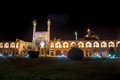 Night view of imam square and mosque in isfahan iran Stock Photography