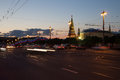 Night view of the kremlin russia moscow Royalty Free Stock Photography