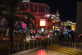 Night view of las vegas nevada usa october the strip is an approximately mile stretch boulevard Royalty Free Stock Photography