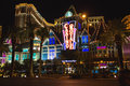 Night view of las vegas nevada usa october the strip is an approximately mile stretch boulevard Stock Photography
