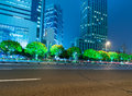 The night view of lujiazui financial centre in shanghai china Stock Image
