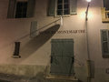 Night view montmartre museum x musee de montmartre x clean stucco exterior wall of at paris france Royalty Free Stock Photos