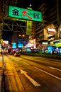 Night view of Nathan Road in Kowloon, Hong Kong Royalty Free Stock Image