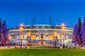 Night view of new soccer `Saint-Petersburg Arena` on Krestovsky island in St. Petersburg for the World Cup 2018 Royalty Free Stock Photo