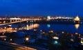 Night View Of Nizhny Novgorod....