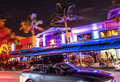 Night view at ocean drive in south miami beach july on july beach florida art deco life beach is one Royalty Free Stock Images