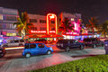Night view at ocean drive in south miami beach july on july miami beach florida art deco life beach is one Royalty Free Stock Photography