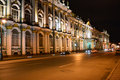 Night view of Palace Embankment in St.Petersburg Royalty Free Stock Photos