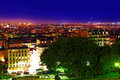 Night view of paris from the hill montmartre france Stock Photos