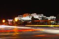 Night view of potala palace in lhasa tibet Royalty Free Stock Photos