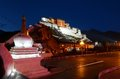 Night view of Potala Palace Royalty Free Stock Photo
