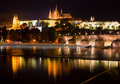 Night view of Prague Royalty Free Stock Photo