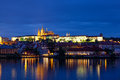 Night view of Prague Stock Photography