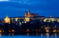 Night view of Prague Stock Image