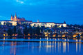 Night view of Prague Stock Photos