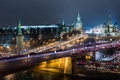 Night view of the red square the kremlin moscow dec and st basils cathedral on december in moscow russia Stock Images