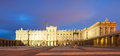 Night view of royal palace in madrid spain Royalty Free Stock Photos