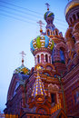 Night view of the savior on spilled blood resurrection jesus christ st petersburg russia Stock Photography
