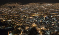Night view of Southern Bogota Royalty Free Stock Photo