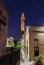 Night view of the streets of the old Arab city Dubai UAE Royalty Free Stock Photo