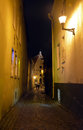 Night view of tallinn city estonia Royalty Free Stock Photography