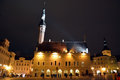 Night view of tallinn city on november is the capital estonia and has more than inhabitants Royalty Free Stock Photos