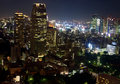 Night view of Tokyo Royalty Free Stock Photos