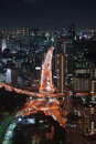 Night view of Tokyo Stock Photos
