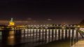 Night view of toulouse midi pyrenees france Stock Photography