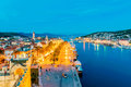 Night view of Trogir Royalty Free Stock Photo