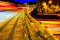 Night View of UK Motorway Highway Traffic Royalty Free Stock Photo