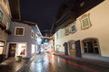 Night view from zell am see village in salzburg austria Stock Photos