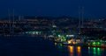 Night Vladivostok  Golden Horn Stock Image