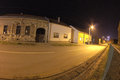 Night in vukovar street war remains of Royalty Free Stock Photography