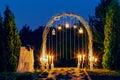 Night Wedding Arch