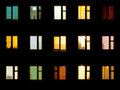 Night windows - block of flats background Stock Photos