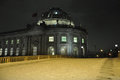 Night winter scene in berlin germany bode museum snow on the Stock Images