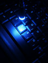 Night work on laptop Royalty Free Stock Images