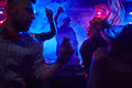 In nightclub disc jockey at the turntable Royalty Free Stock Image