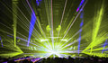 Nightclub Lasers And Crowd