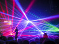 Nightclub / Rave Lasers, People Having Fun Royalty Free Stock Photo